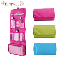 Womens Ladies Travel Toiletry Hanging Wash Cosmetic Makeup Case Portable Organizer Bags For Outdoor Camping