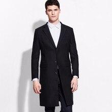 2017 yeni moda göğüslü takım elbise ceket erkek resmi tek göğüslü uzun erkek ceket