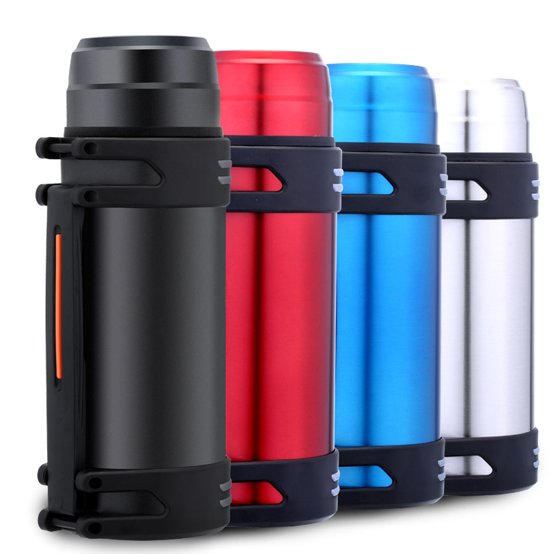 garrafa termica Stainless Steel Insulated Thermos Bottle 1500ml 2000ml Outdoor Coffee Mug Thermal Vacuum Flask