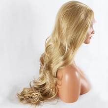 Fantasy Beauty Blonde Lace Front Wig Long Curly Synthetic Lace Wig Hair Replacem