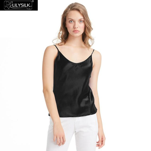 6238abad07 LILYSILK Womens Silk Camisole 100 Real Pure Mulberry Charmeuse 19MM V Neck  Basics Tops Ladies Lingerie