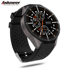 цена на ASKMEER KW88 Pro Smart Watch Android 7.0 Smartwatch Phone MTK6580 1GB 16GB 3G Wifi GPS Bluetooth Smart Watches 2.0MP Wirstbands