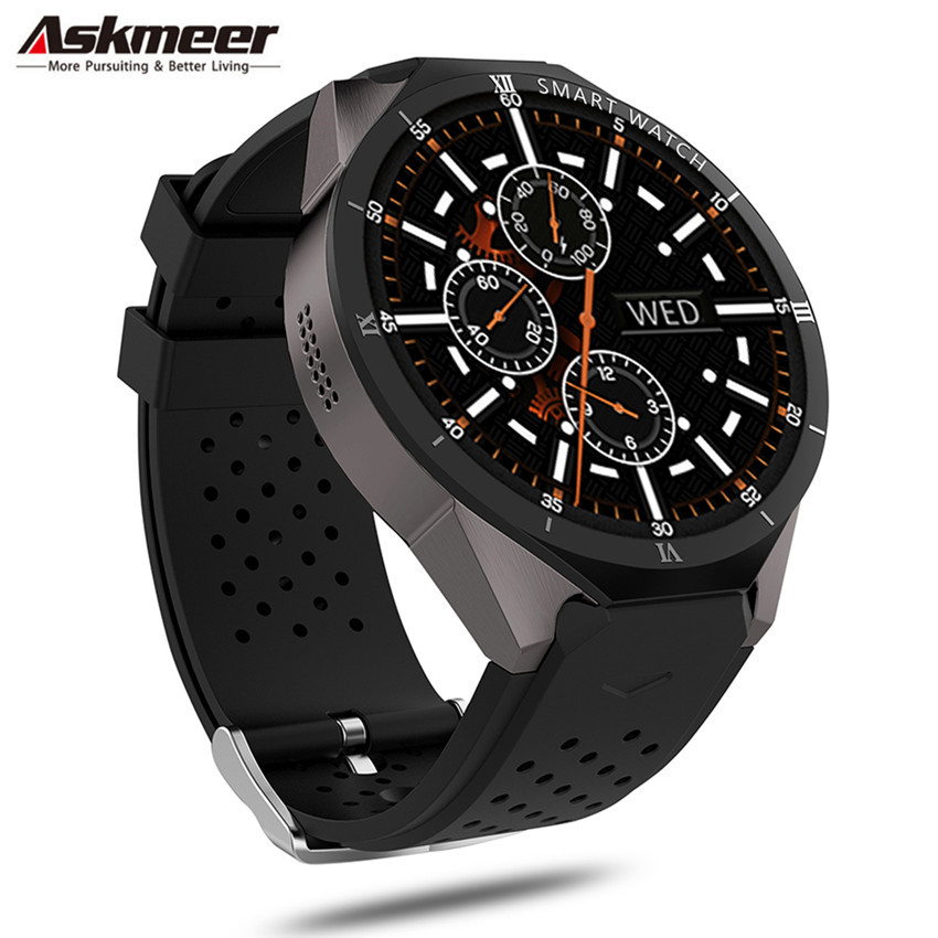 ASKMEER KW88 Pro Smart Watch Android 7.0 Smartwatch Phone MTK6580 1GB 16GB 3G Wifi GPS Bluetooth Smart Watches 2.0MP Wirstbands