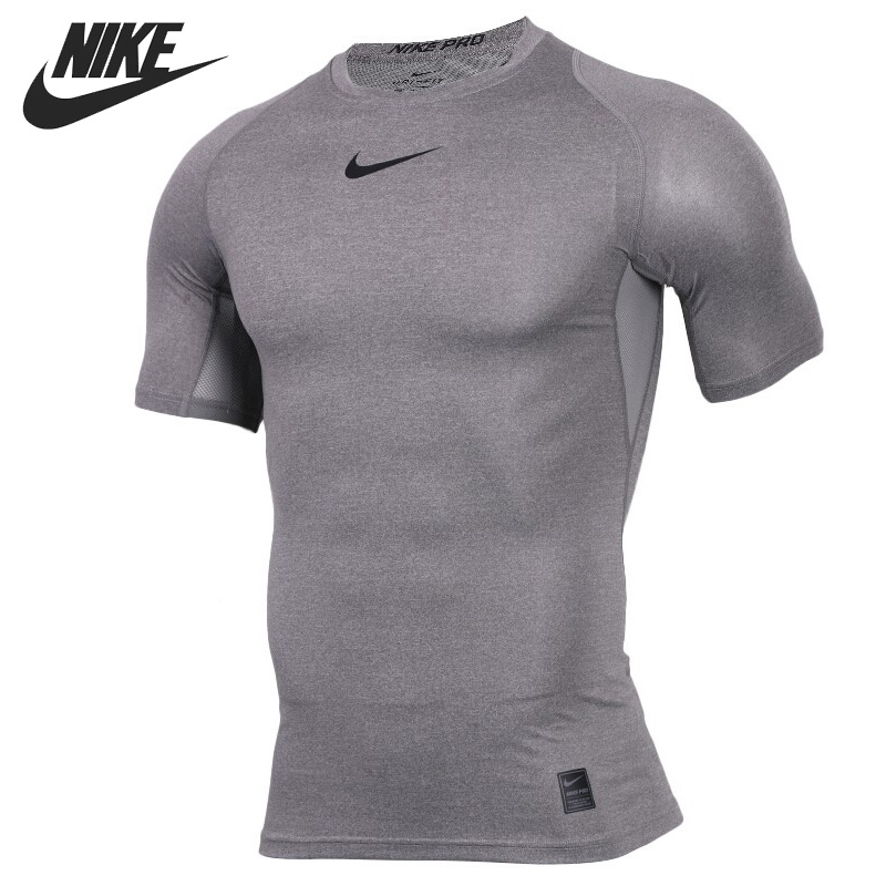 Original New Arrival  NIKE AS M NP TOP SS COMP Men's T-shirts short sleeve Sportswear