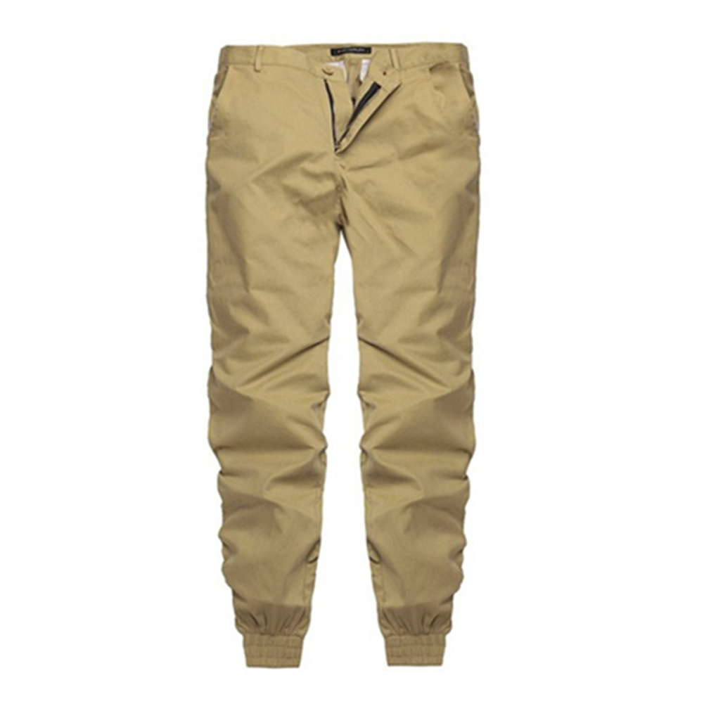 New Mens Fashion Casual Pencil Pants Slim Fit Sweat Comfortable Trousers