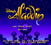 Aladdin 16 bit MD card with Retail box for Sega MegaDrive Video Game console system 1