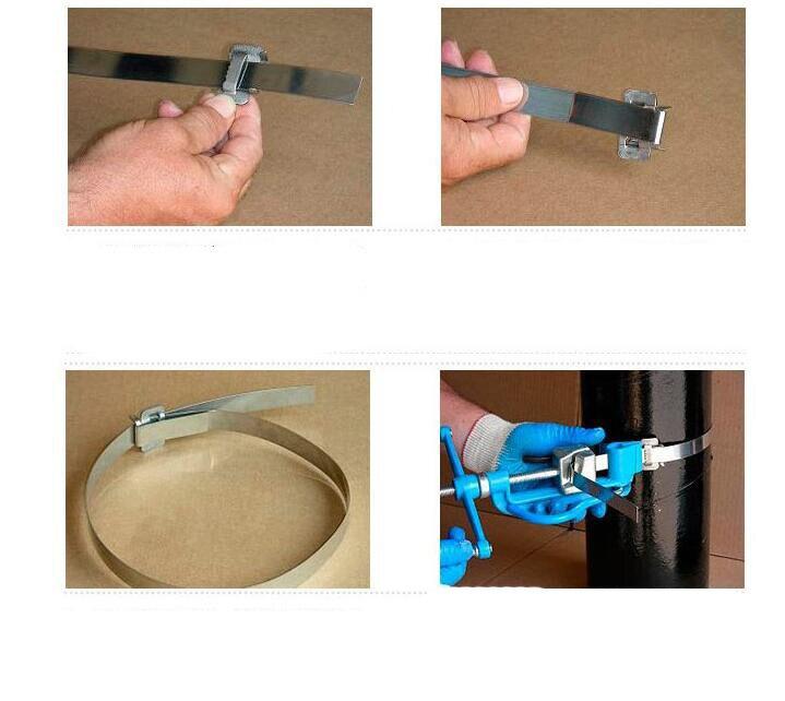 Купить с кэшбэком Screw-type heavy-duty stainless steel  ties tool Fastener baler Utility poles 6.4-20mm