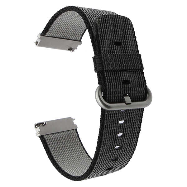 22mm Quick Release Nylon Watch Band Wrist Strap for Pebble Time Gear 2 Neo Live Moto 360 2 46mm Fossil Q Founder Grant Marshal | Watchbands