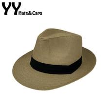 Straw Panama Hats Man Women Sun Hat Summer Hot Jazz Beach Cap Sun UV Hats Sombrero de Panama Caps Chapeu de Praia Verao YY17035