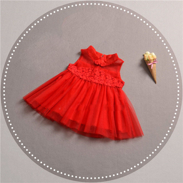 2018 New Summer Dress Girl China Style Tulle dress Children Baby Clothing Fashion Dresses Wedding Party For Girl Princess Dress