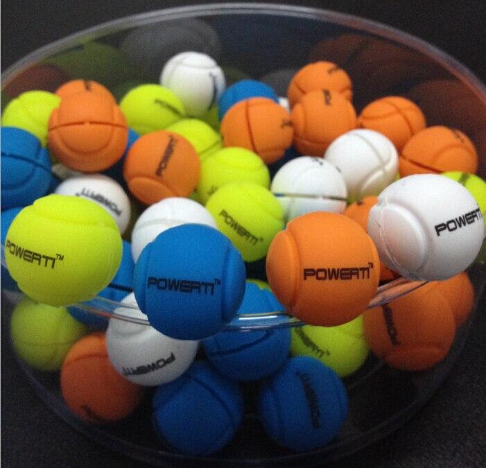 1 Piece Original POWERTI Tennis Balls Design Tennis Vibration Dampener To Reduce Tenis Racquet Vibration Dampeners Raqueta Tenis