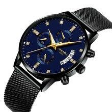 Новый Топ relogio masculino Crnaira Бренд Алмаз деловые водонепроницаемые часы кварцевые мужские часы кожаный ремешок AAA invicta