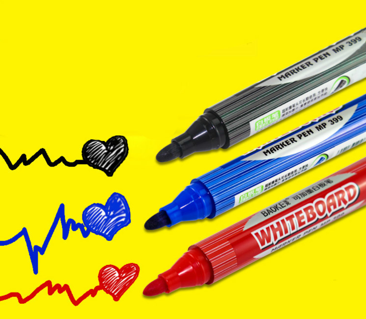 Boke whiteboard pen ink erasable large capacity 12 pcs/box