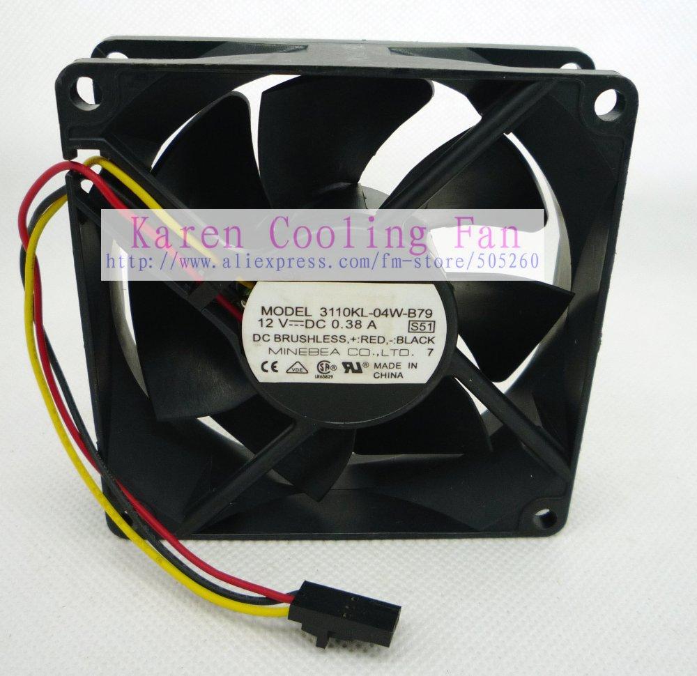 NMB 8025 80mm 12 v 0.38a 3110KL-04W-B79 S51 cpu cooler dissipateur  Ventilateur axial 80 80 25 MM 0af9faf668f