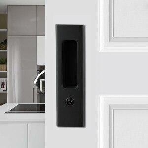 Image 1 - Nero In Lega di Zinco Porta di Legno Maniglia Serratura Con Le Chiavi Per Interno Scorrevole Barn Door hardware