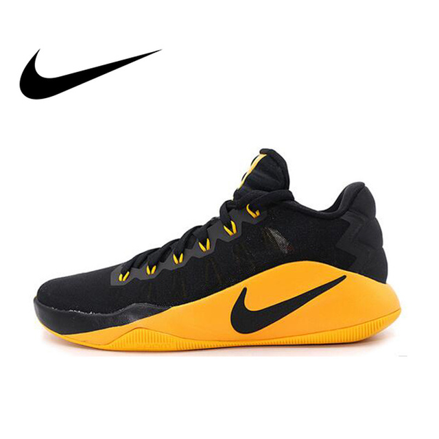 db102ed4e401 Original Official NIKE HYPERDUNK LOW EP Men s Breathable Basketball Shoes  Sneakers Ultra Boost Medium Cut Thread Shoes 844364