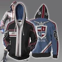 Japanese Game Tekken Sport Hoodies Zipper Clothing hooded sweatshirt Unisex Adult casual hoodie Coat Jacket Tops Coats
