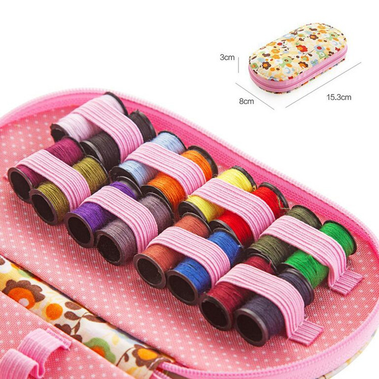Portable mini travel sewing kits box with color needle threads pin - Arts, Crafts and Sewing - Photo 6