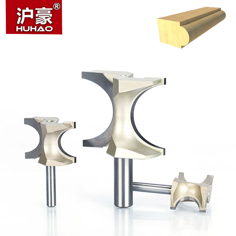 HUHAO 1pc 1/2 1/4 Inch Shank Half Round Bit 2 Flute Endmill Router Bits For Wood Without Bearing Woodworking Tool Milling Cutter