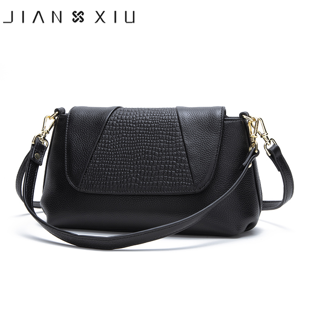JIANXIU Brand Female Shoulder Crossbody Litchi Texture Genuine Leather Handbag 2019 Women Messenger Bags Small Tote Bag 2 Colors