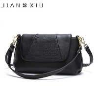 JIANXIU marque femme épaule bandoulière Litchi Texture véritable sac à main en cuir 2019 femmes Messenger sacs petit sac fourre-tout 2 couleurs