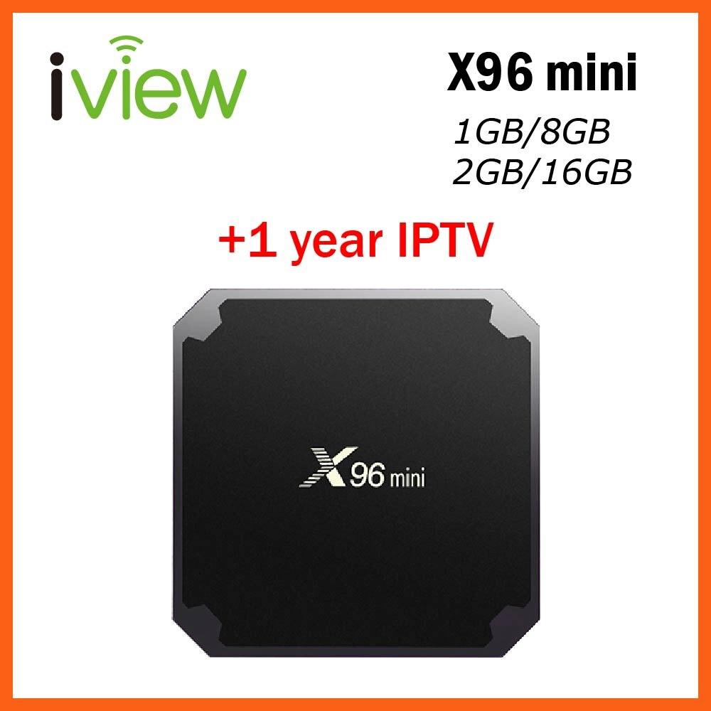 X96 mini Android TV BOX con 1 anno di Abbonamento IPTV da Android APK per L'europa Francese Arabo USA Adulto IPTV