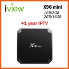 X96 mini Android TV BOX with 1 year IPTV Subscription by Android APK for Europe French Arabic USA Adult IPTV