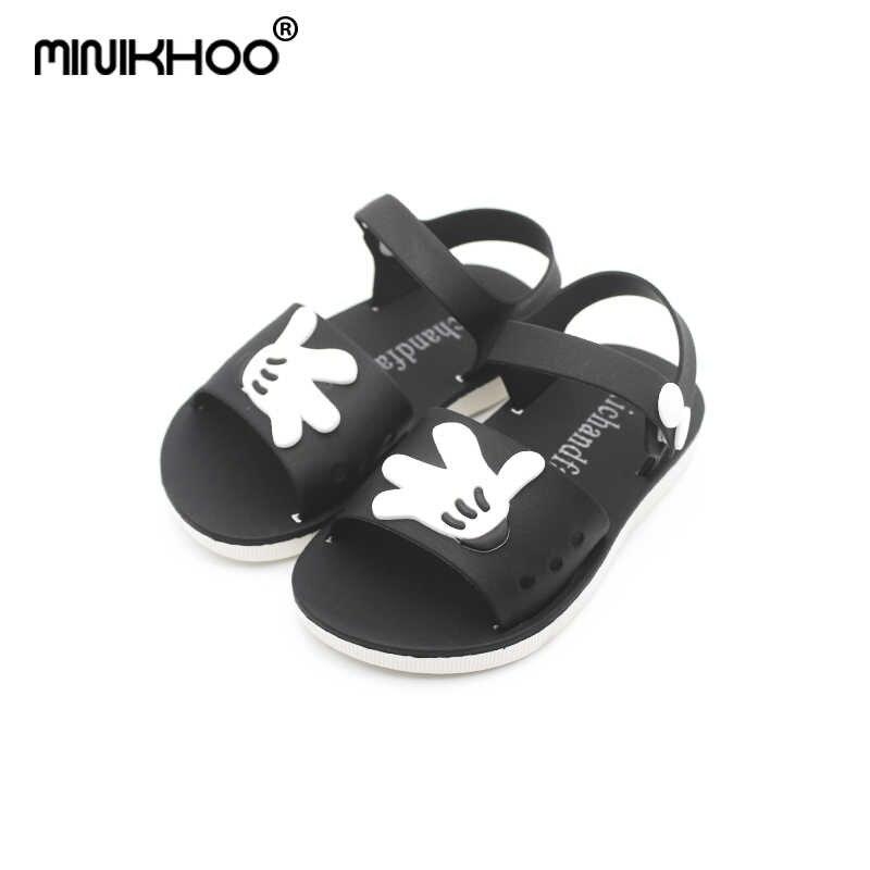 9810b2cf5f93f Mini Melissa New Mickey Minnie Children Soft Shoes Super Cute Girls Jelly  Sandals Princess Shoes Kids