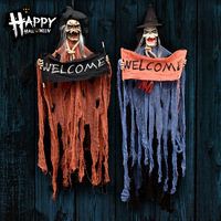 TECHOME Halloween Decors Hangning Ghost Bars Parties Decorations Props Voice Control Horror Toy For Home Wall