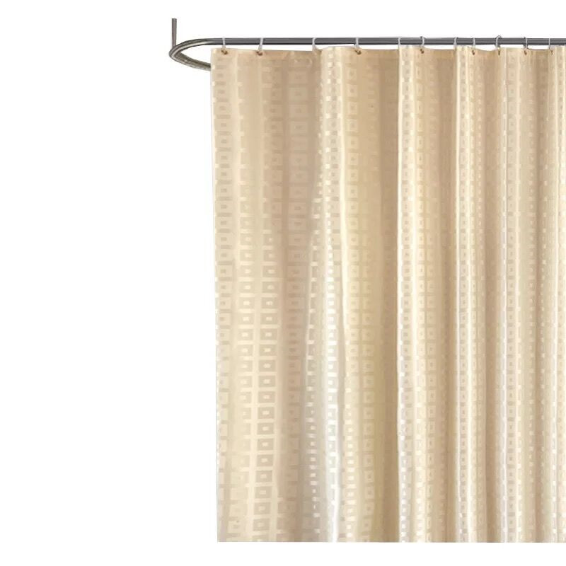 XYZLS Modern Shower Curtain Waterproof Mildew Proof Polyester Bathroom Square Grid Bath Curtains With Hooks In From Home Garden On