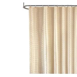 Image 5 - XYZLS Modern duş perdesi su geçirmez küf geçirmez Polyester banyo perdesi kare ızgara banyo perdeleri kanca ile