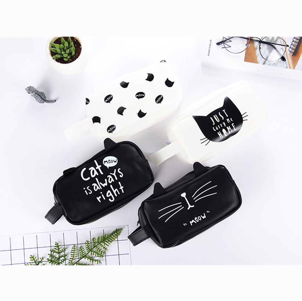 Home Office Storage Impartial Fs5 Novelty Silica Gel Portable Cat Coin Pencil Case Purse Bag Wallet Pouch Keyring Sep07