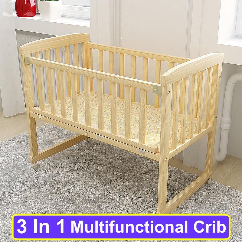 Wood Baby Bed Bedding Set