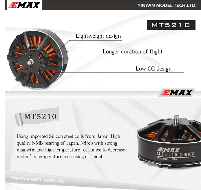 Emax MT5210 160KV Brushless Motor CW/CCW for RC Multicopter цена