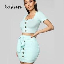 Kakan new sexy women's dress two-piece strap bow dress pink blue short-sleeved dress недорого