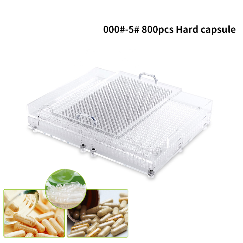000#-5#800 Hole Capsule Filling Plate / Filling Capsule / Equipment Manual Capsule Filling Manual Packaging Machine