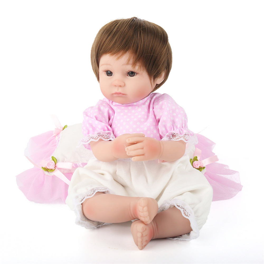 New Soft Silicone Artificial Doll with Cloth Body Simulation of Reborn Baby Doll Gift to Children Kids toys Wholesale