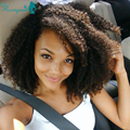 Peluca brasileña Virginal Del Pelo Rizado Afro rizado U Parte Peluca Tiro Bob Glueless Del Frente Del Cordón Pelucas Del Pelo Humano Corto Pelucas Para Negro mujeres