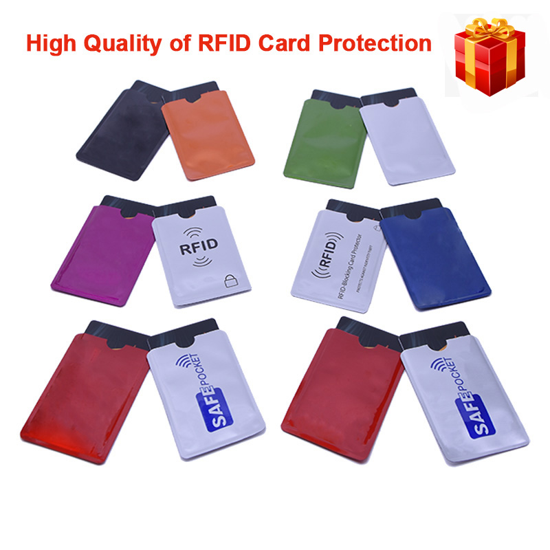 10Pcs/Set RFID Shielded Sleeve Card Blocking 13.56mhz IC RFID Card Protection NFC Security Card Prevent Unauthorized Scanning nfc shielded sleeve rfid cardblocking 13 56mhz ic card protection nfc security card prevent unauthorized scanning