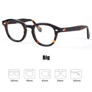 Image 4 - 안경 남성 조니 Depp 안경 투명 렌즈 브랜드 디자인 컴퓨터 고글 남성 라운드 빈티지 스타일 sq000