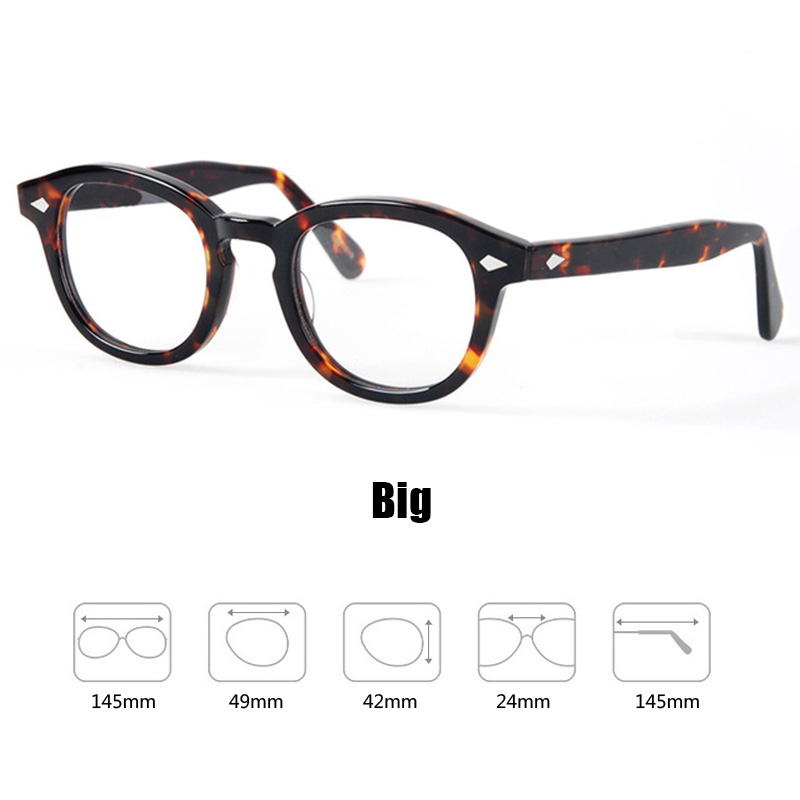 d4b572fd4d Glasses Men Johnny Depp Eyeglasses Transparent Lens Brand design Computer  Goggles male Round Vintage Style sq000-in Eyewear Frames from Apparel  Accessories ...