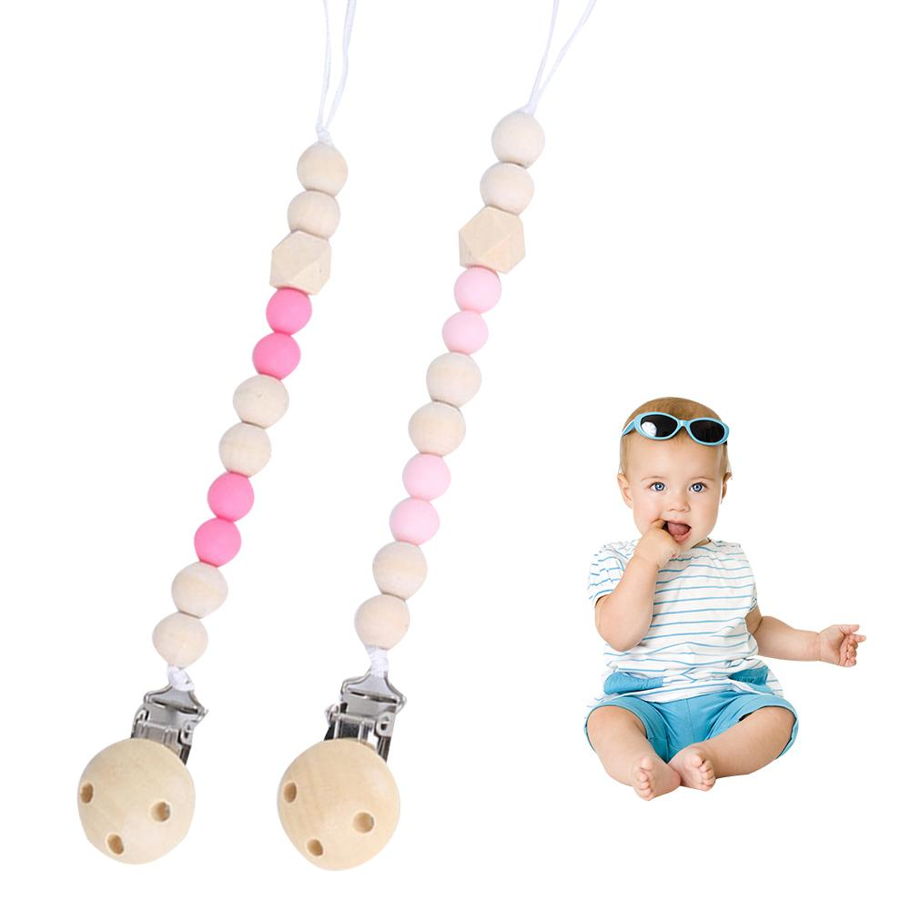 Baby Comfort Wooden Pacifier Clip Pacifier Chain Toy Baby Pacifier Clip Personalised Colorful Pacifier Chain No Off Chain