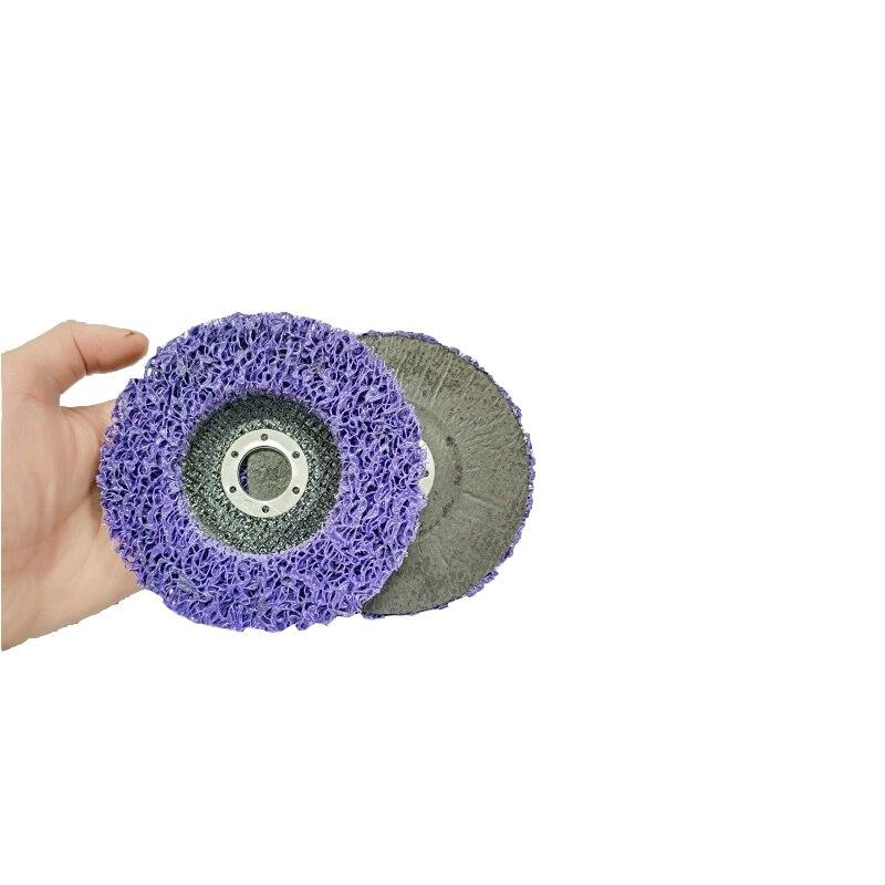 2 stücke 125mm Poly Streifen Disc Schleif Rad Farbe Rost Entfernung Reinigen Mayitr Für Winkel Grinder