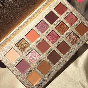 Image 3 - Vẻ Đẹp Tráng Men Trang Điểm 18 Màu Nude Phấn Mắt Pallete Chống Nước Eyeshadow Palette Cọ Trang Điểm Bảng Phấn Mắt Mỹ Phẩm