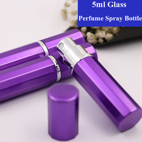 Myer Perfume Refill: 5ml 5/10/15/20/30pcs Purple Top Grade Mini Portable Travel Refillable Bottles Perfume Atomizer