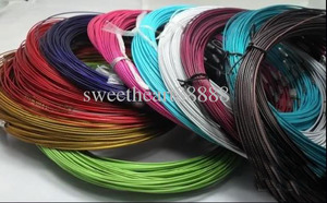 """Image 2 - New 100pcs Mixed Multi Color Stainless Steel Wire Cord Necklaces Chains Jewelry 18"""" Longth Jewelry DIY"""