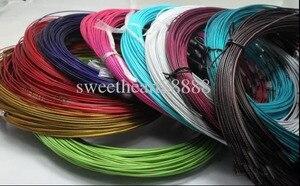 """Image 2 - Novo 100 pçs misturados multi cor de aço inoxidável fio cabo colares cadeias jóias 18 """"longth jóias diy"""