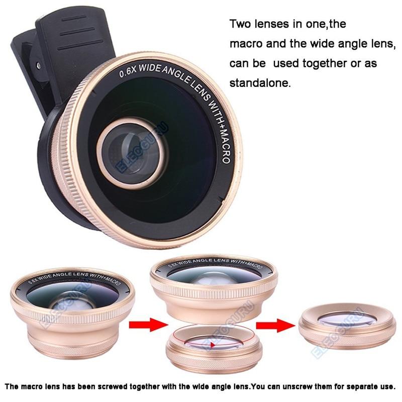 Kit universel d'objectif de caméra télescope Zoom optique HD 18x pour Iphone 7 6 S 0.6X grand Angle 15X objectif Macro pour Samsung S8 S7 edge - 5