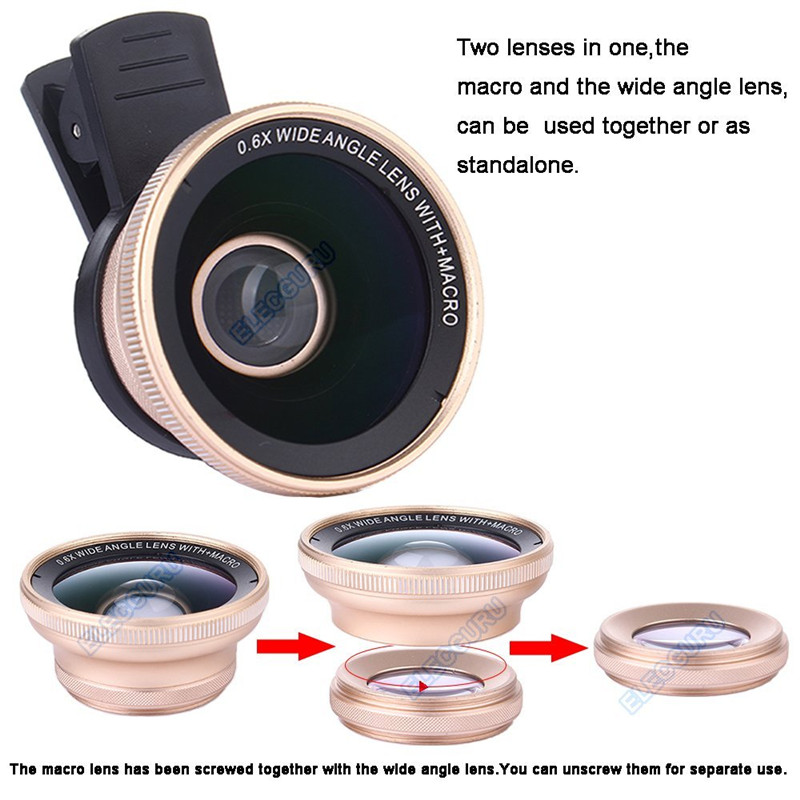 Universal HD 18x Optical Zoom Telescope Camera Lens Kit For Iphone 7 6S 0.6X Wide Angle 15X Macro lens For Samsung S8 S7 edge