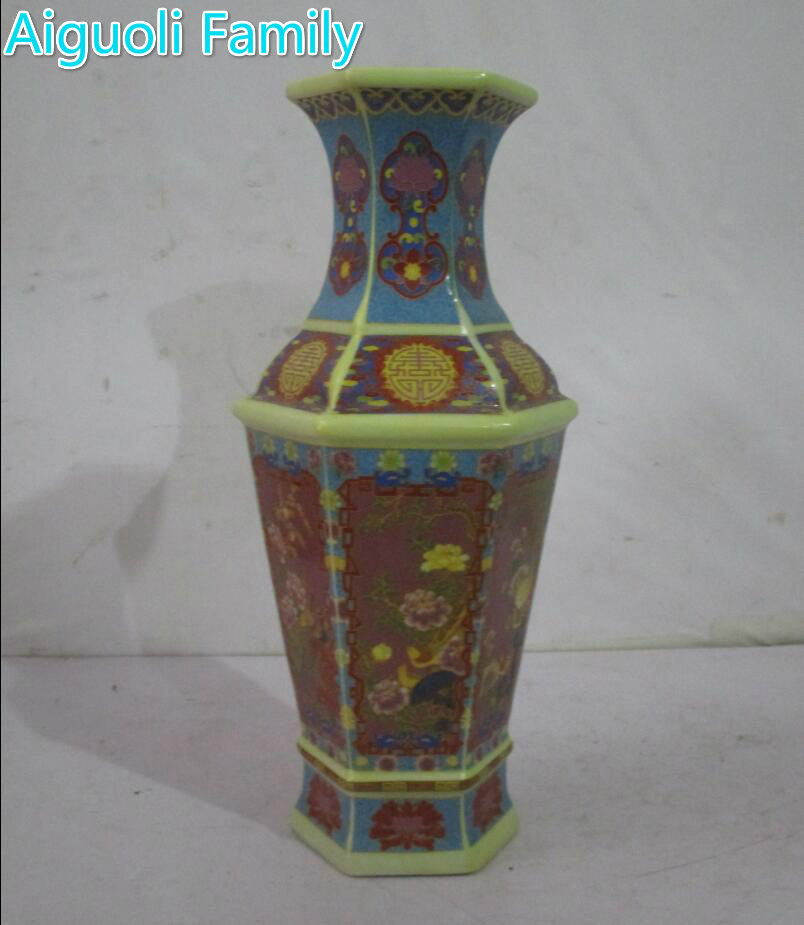 Rare Chinese Qing Dynasty Yongzheng Year Ceramic Vaseswith A Mark